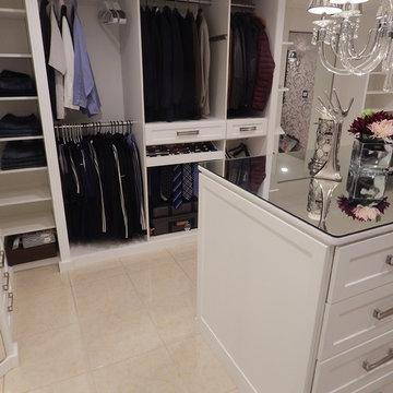 White Mirrored Walk In