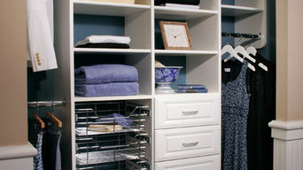 White Reach-In Closet