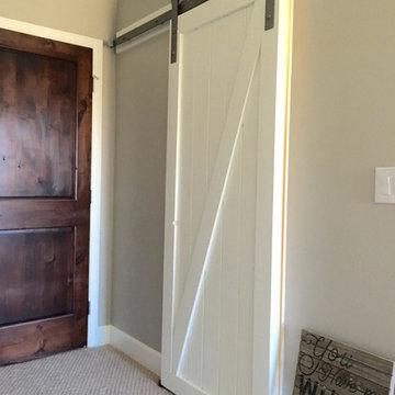 White Rustic sliding  barn doors