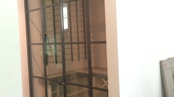 Wine cellar glass door