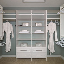 Contemporary Closet by Parkwood Master Builder