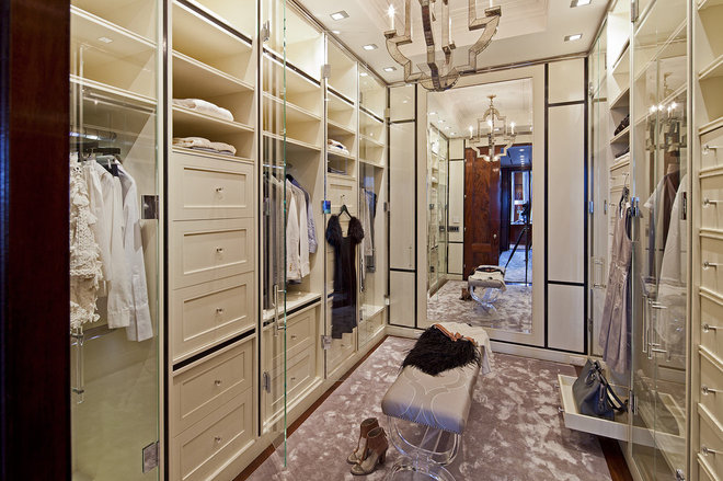 Contemporary Closet by Taylor Hannah Architect Inc