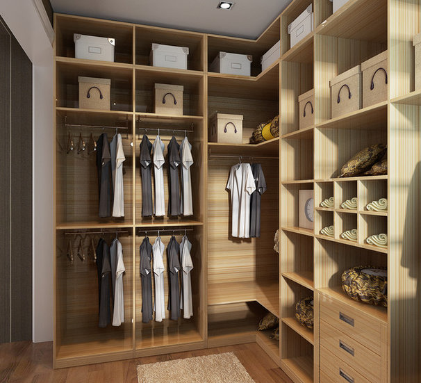 Contemporary Closet by Yuanmeng Kitchen