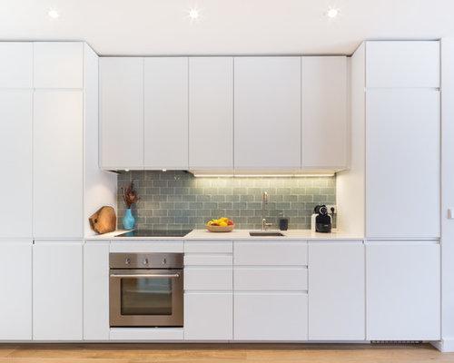 Ideas para cocinas   Fotos de cocinas abiertas con salpicadero gris