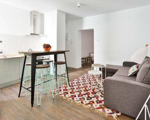 modelo de cocina lineal escandinava pequea abierta sin isla con armarios with modelos de azulejos para cocinas
