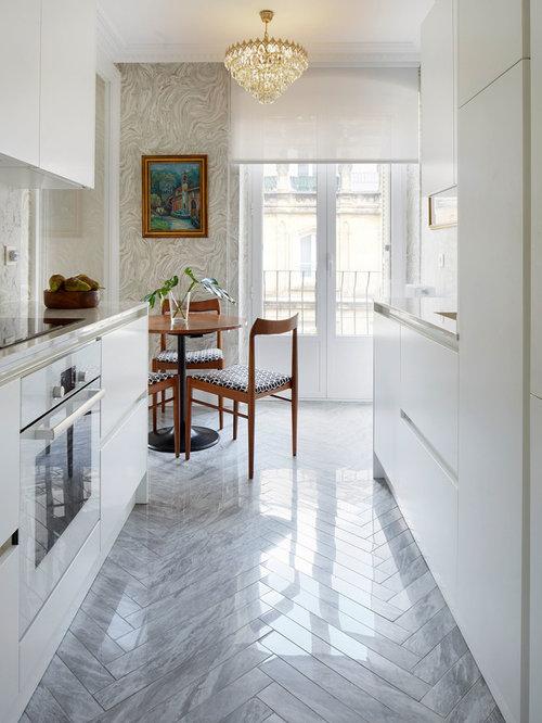 Ideas para cocinas | Fotos de cocinas contemporáneas con suelo de mármol