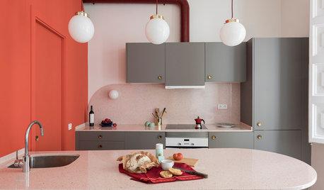 En detalle: Una cocina retro de 20 m² con un secreto escondido