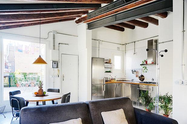 Casas houzz un luminoso tico con una reforma entre - Instalacion electrica vista ...