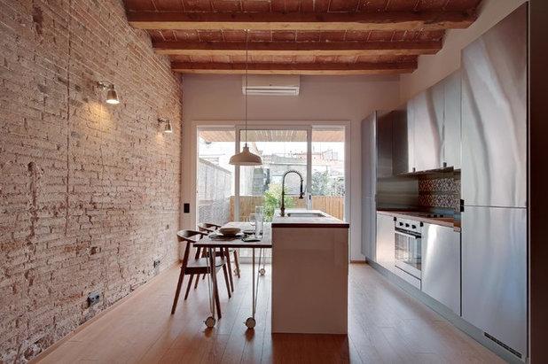 Vuoi una parete in stile mattoni a vista - Cucina in mattoni faccia vista ...