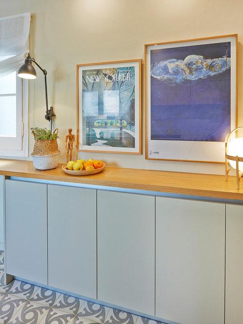 Ideas para cocinas   Fotos de cocinas con puertas de armario grises