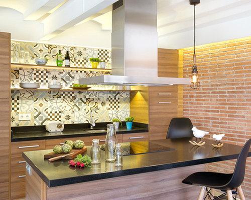 Ideas para cocinas dise os de cocinas con salpicadero - Tamano azulejos cocina ...