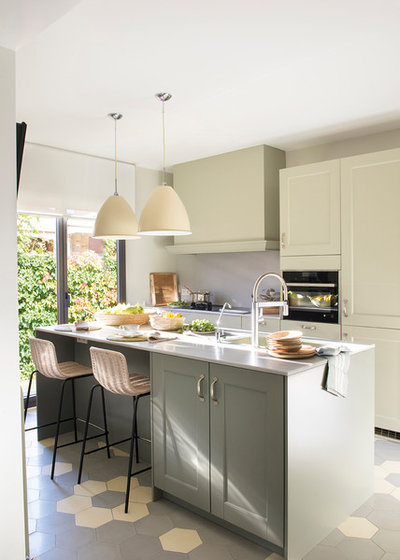 Transitional Kitchen by The Room Studio