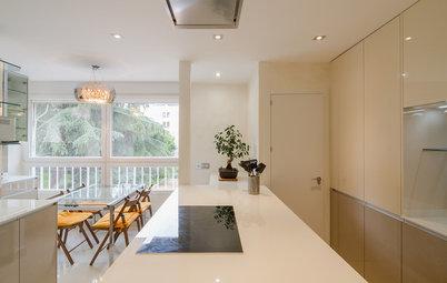 Una bonita cocina con isla y un luminoso comedor por 8.500 €