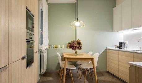 Cocina de la semana: Verde y madera dan forma a un espacio cálido