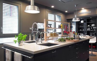 Cómo sacar partido a los estantes abiertos de una cocina