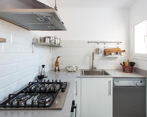 Fotos de cocinas dise os de cocinas peque as cerradas for Modelos de cocinas en l