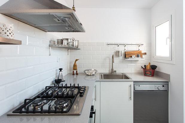 Azulejos metro la baldosa perfecta para tu cocina o ba o for Cocina con azulejos blancos