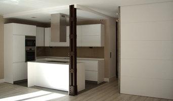 Cocina moderna en Loft de Madrid Centro