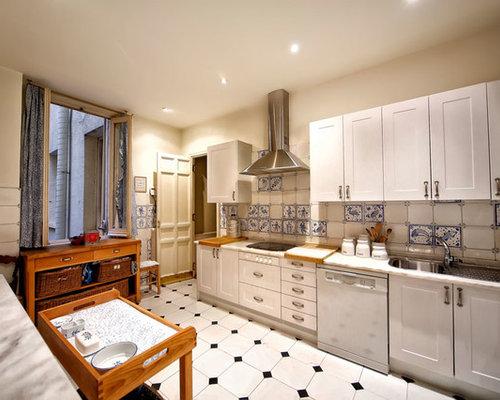 Ideas para cocinas fotos de cocinas con salpicadero con for Cocina sin azulejos