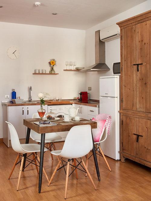 Fotos de cocinas dise os de cocinas de estilo de casa de for Cocina comedor en l