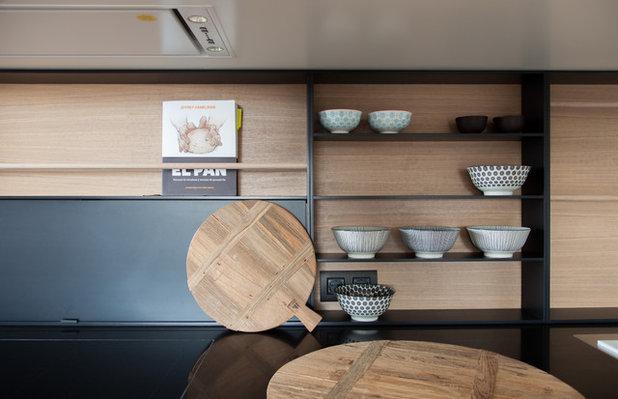 cuisine de la semaine blanc bois et noir unissent trois. Black Bedroom Furniture Sets. Home Design Ideas