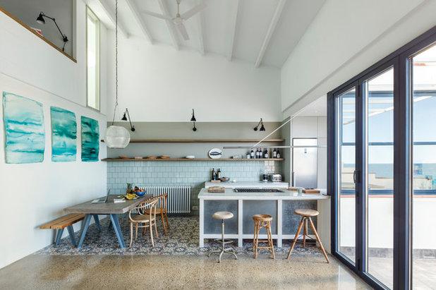 Mediterranean Kitchen by Nook Architects