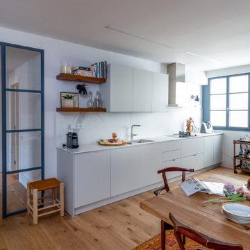 Fotografías de una reforma completa de un piso en Barcelona.