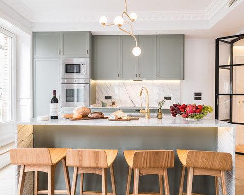 Ideas para cocinas | Fotos de cocinas con armarios estilo shaker y ...