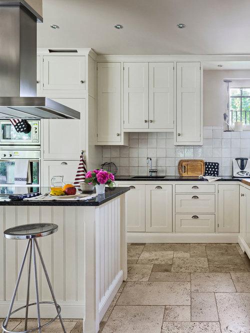 Ideas para cocinas | Fotos de cocinas con suelo de piedra caliza