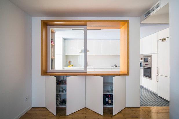 Cocina de la semana: una ventana panorámica que releva a un pasaplatos