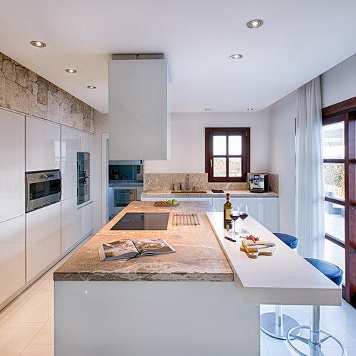 Cucina con top in marmo Palma di Maiorca - Foto e Idee per ...