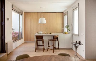 Casas Houzz: Un ático en Madrid cálido, confortable y relajante