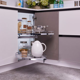 Photo of a modern kitchen pantry in Other.