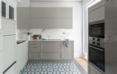 Más vale una imagen...: 9 cocinas de mármol para todos los gustos