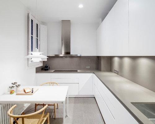 Cocina blanca y gris: ideas y fotos | Houzz