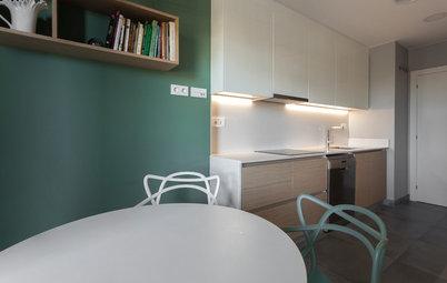 Más vale una imagen...: 9 cocinas en línea para casas pequeñas