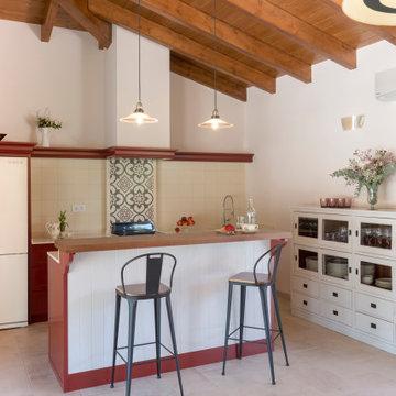 Proyecto exterior, casa de verano y porche