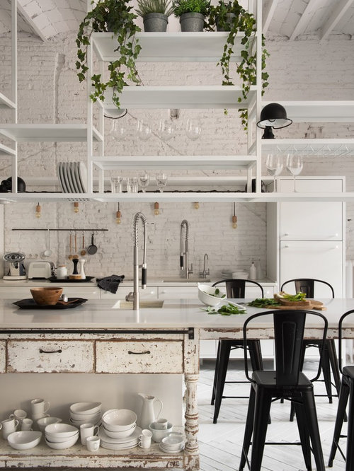 Shabby chic style kitchen design ideas remodel pictures - Cocinas estilo shabby chic ...