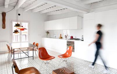 En detalle: Una cocina blanco sobre blanco con toques maestros de color