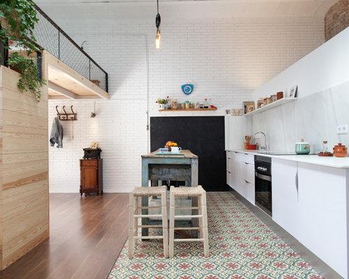 Ideas para cocinas   Fotos de cocinas grandes con salpicadero de ...