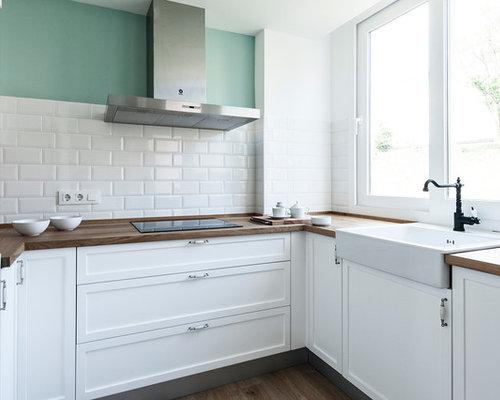 Fotos de cocinas dise os de cocinas peque as cerradas for Cocina blanca electrodomesticos blancos