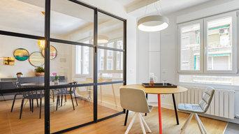 Reforma integral vivienda con muebles de diseño