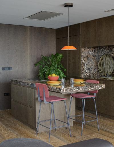 Trendy Køkken by Cáliz Vázquez Arquitectura interiorismo