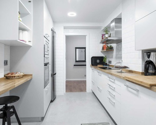 Cuisine parall le scandinave photos et id es d co de for Amenagement cuisine parallele