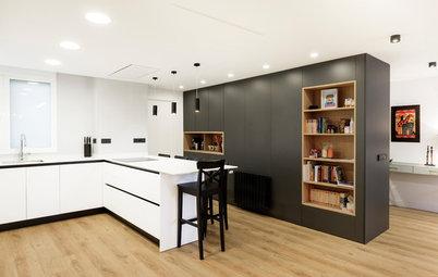 Cocina de la semana: 16 m² abiertos y funcionales