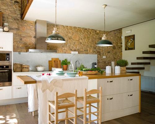Fotos de cocinas dise os de cocinas de estilo de casa de - Diseno casas rurales ...