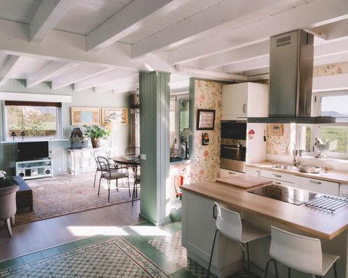 Fotos de cocinas dise os de cocinas de estilo de casa de for Disenos de cocinas campestres