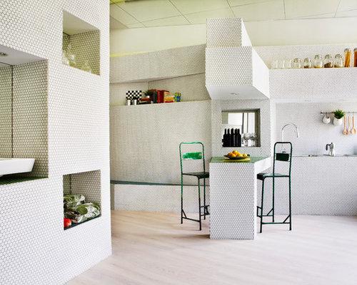 Ideas para cocinas fotos de cocinas con encimera de azulejos - Encimeras de azulejos ...
