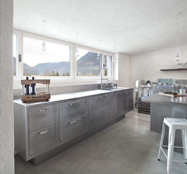 Cocina de la semana: Industrial, retro, minimal y con vistas alpinas