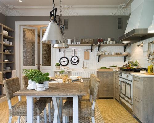 Ideas para cocinas fotos de cocinas de estilo de casa de for Cocina comedor con isla
